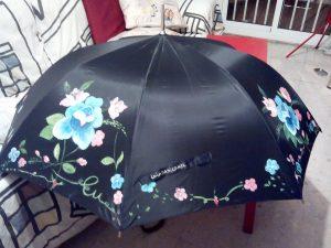 Paraguas de pintora.