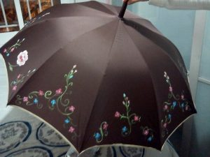 Paraguas de pintora