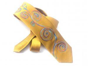 Corbata pintada exclusiva. Modelo Albero