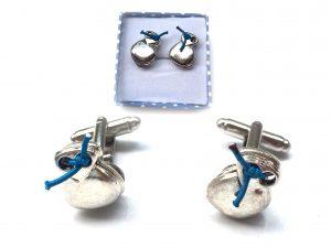 Gemelos Azul metal