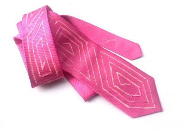 Corbata pintada exclusiva. Modelo Capote