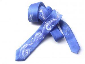 Corbata pintada exclusiva. Modelo Chipi