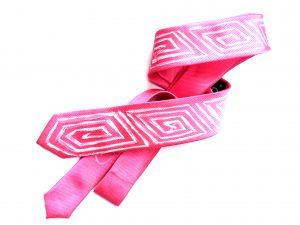 Corbata pintada exclusiva. Modelo Cuadrado espiral