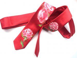 Corbata pintada exclusiva. Modelo Rosal