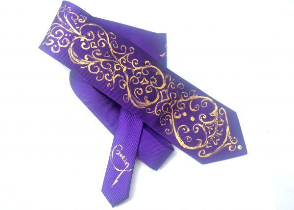 Corbata pintada exclusiva. Modelo Sacro