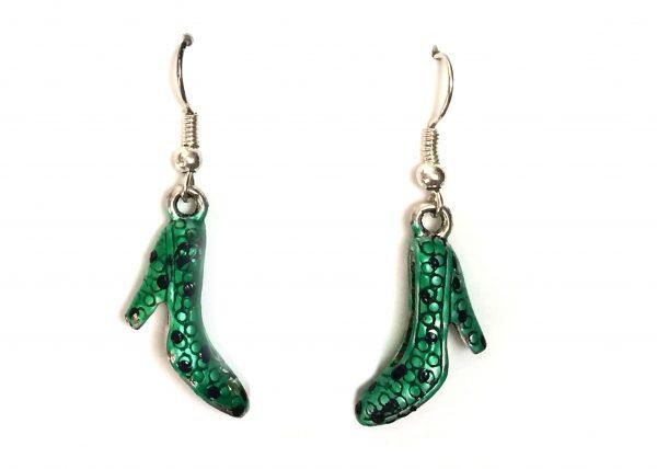Zapato flamenco verde con lunares negros Modelo Zapatito12