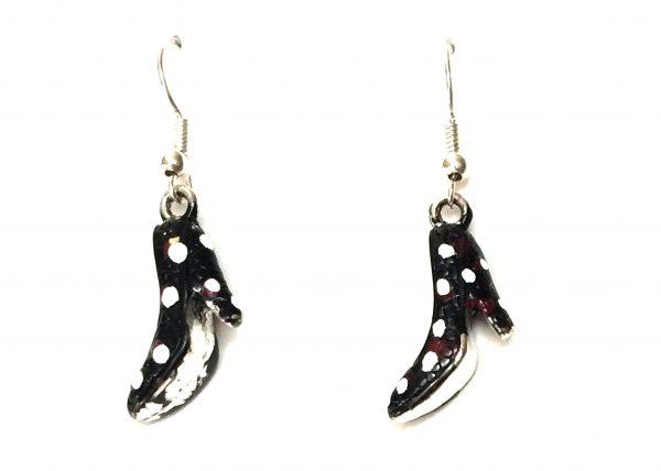 Zapato flamenco negro con lunares blanco Modelo Zapatito13