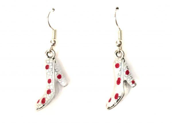 Zapato flamenco blanco con lunares rojos Modelo Zapatito15