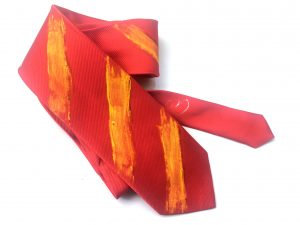 Corbata pintada exclusiva. Modelo Walda